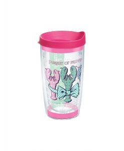 tervis simply southern - preppy lobster 16 oz. wrap w/ lid