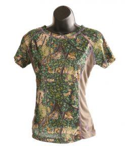 bushlan ladies dry fit performance short sleeve shirt