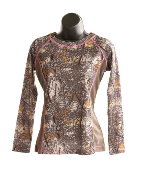 bushlan ladies dry fit performance long sleeve shirt