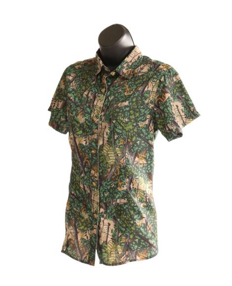bushlan ladies 'port a' vent back button up shirt