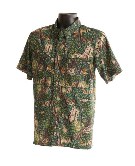 bushlan men's port a' vent back button up shirt
