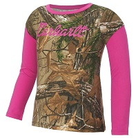carhartt girls' infant/toddler camo layered t-shirt
