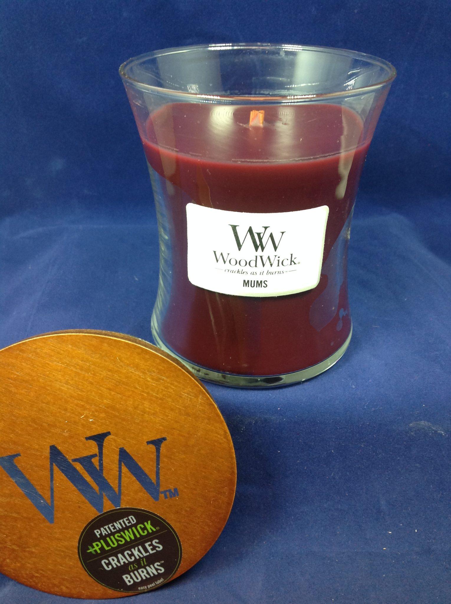 woodwick medium candle mums