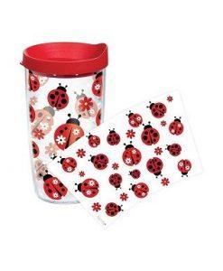 tervis ladybug pattern 16 oz. wrap w/ lid