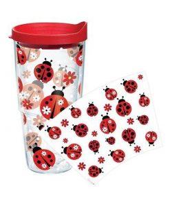 tervis ladybug pattern 24 oz. wrap w/ lid
