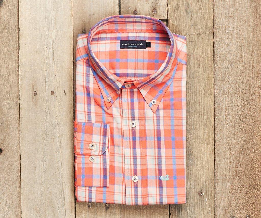 Southern Marsh Walton Plaid Dress Shirt Safford Trading Company