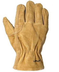 carhartt men's leather fence gloves