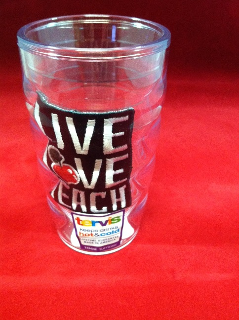 tervis live love teach 10 oz. wavy tumbler
