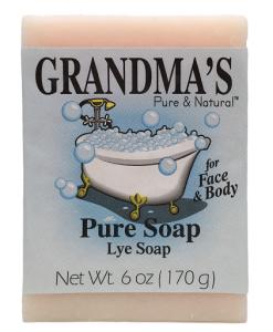 grandma's lye soap 6 oz.
