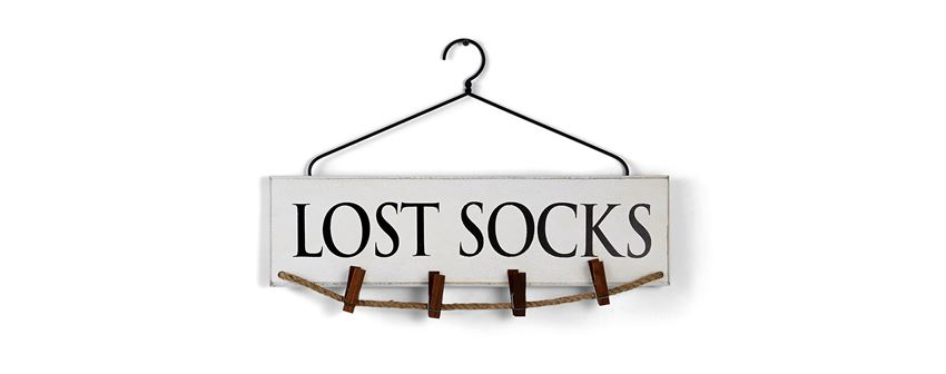 mud pie lost socks laundry hanger