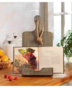 mud pie rustic cookbook holder