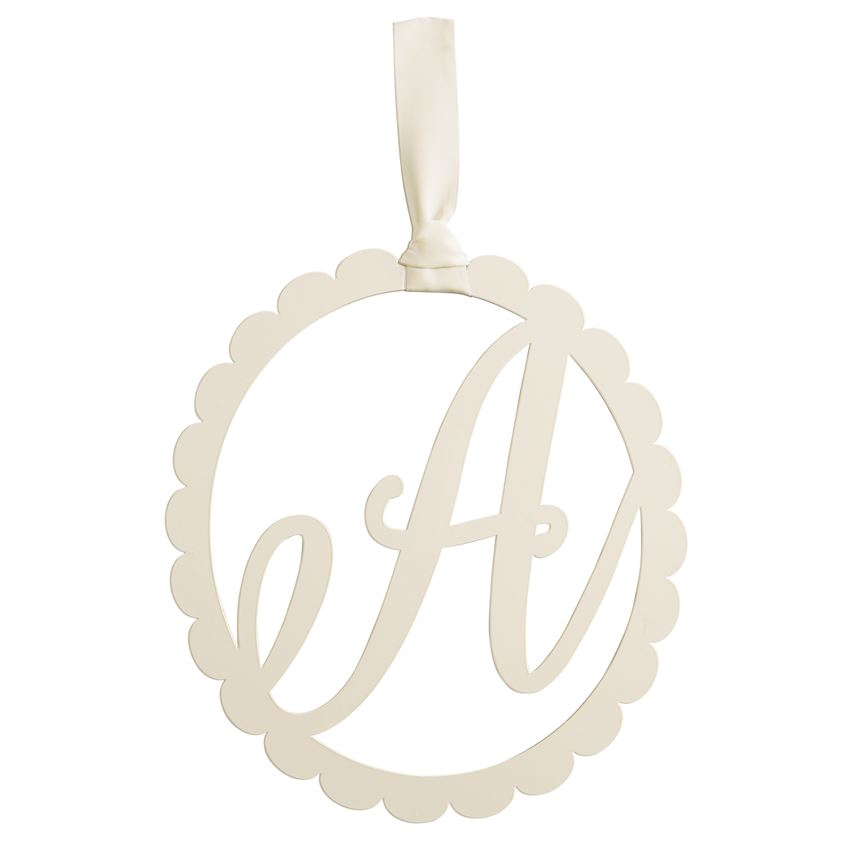 mud pie scalloped initial wall hanger