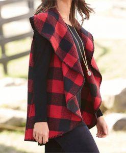 mud pie women's west blanket vest