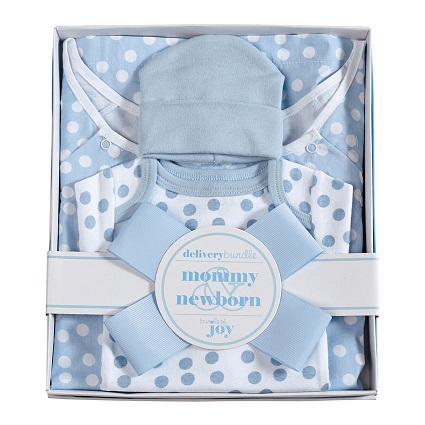 mud pie blue confetti dot hospital set