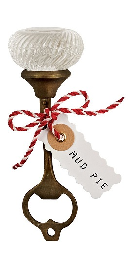 mud pie fluted door knob bottle opener