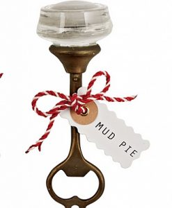 mud pie smooth door knob bottle opener