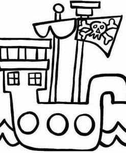 paint-a-doodle 12 x 12 pirate ship painting kit