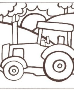 paint-a-doodle 12 x 12 tractor painting kit