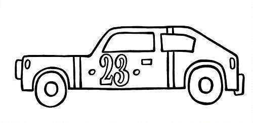 paint-a-doodle 12 x 24 race car