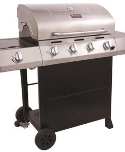 char-broil classic 4-burner gas grill, 40000 btu, lpg, 680 sq-in, stainless steel