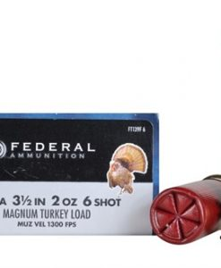"federal premium strut-shok turkey load 12 ga. , 3 1/2"", 2 oz., 6 shot"