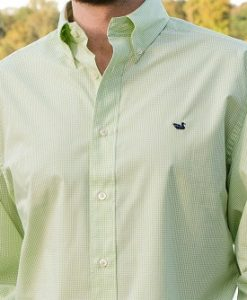 southern marsh men's gadwall gingham dress shirt - wrinkle free