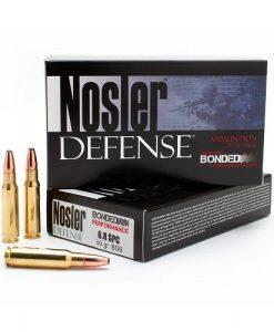 nosler defense 6.8mm spc 90 grain bonded solid base ammunition