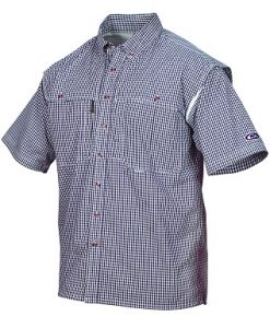 Drake Short Sleeve Wingshooter's Gingham Game Day Shirt