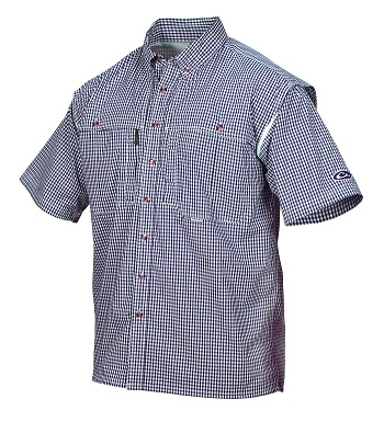 Drake Short Sleeve Wingshooter's Gingham Game Day Shirt