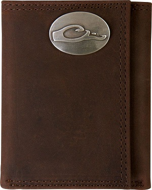 Drake Men's Leather Tri-Fold Wallet