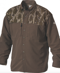 Drake Men's Two-Tone Vented Wingshooter's L/S Shirt