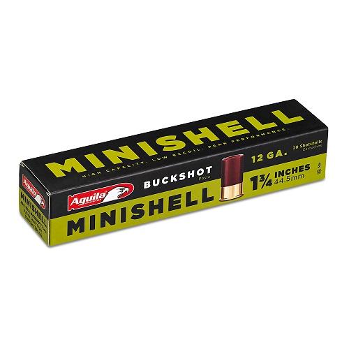 "Aguila MiniShell 12 Ga., 4B (7) 1B (4) Buckshot, 1-3/4"", 5/8 Oz."