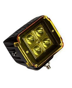 "Race Sport Street Series 3x3"" 16W 4-LED CREE Cube Spot Light w/ Amber Cover"