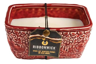 Woodwick Large Rectangle RibbonWick Scented Candle -Scarlett Berry