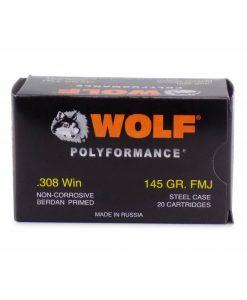 Wolf Polyformance .308 Winchester FMJ, 145 Gr.
