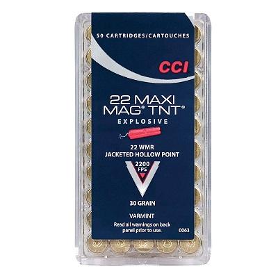 CCI 22 Win Mag Maxi Mag TNT Ammunition
