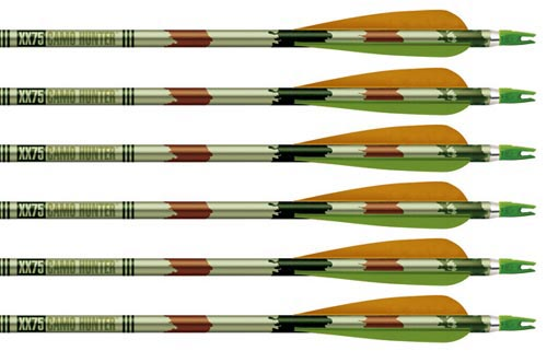 Easton XX75 Camo Hunter Arrows 4 R/W Feathers 12 Pk., 2016
