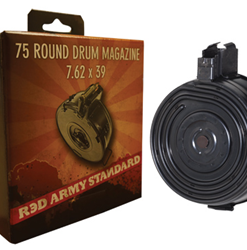 Century Arms Red Army Romanian AK 75 rd. Drum Mag., Cal. 7.62x39mm