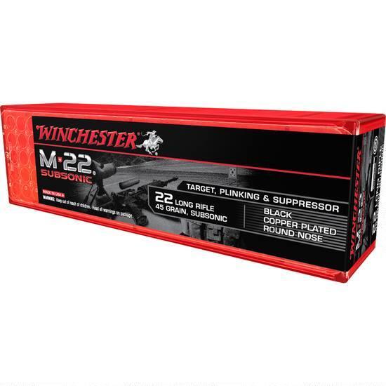 Winchester M-22 SubSonic .22 LR Ammunition 45 Gr.