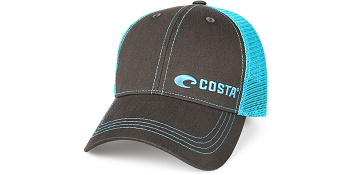 Costa Del Mar Neon Trucker Twill Hat