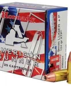 Hornady 9mm +P Luger 124 Gr. XTP American Gunner