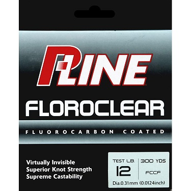 P-Line Floroclear Fluorocarbon Coated Fishing Line 12 lb./300 yd
