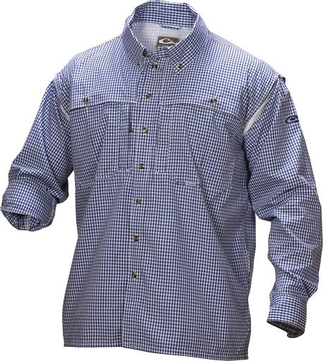 Drake Men's Gingham Plaid Wingshooter's Shirt Long Sleeve