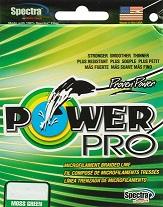 PowerPro Braided Spectra Fiber Microline 20lb. Test/6 lb. Dia./ 300 Yds. (Moss Green)