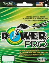 PowerPro Braided Spectra Fiber Microline 50lb. Test/12 lb. Dia./ 300 Yds. (Moss Green)