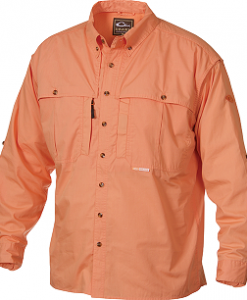 Drake Men's Long Sleeve Cotton Wingshooter's Shirt W/ Staycool Fabric