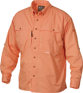 Drake Men's Long Sleeve Cotton Wingshooter's Shirt W/ Staycool Fabric