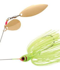 BOOYAH DOUBLE WILLOW SPINNERBAIT CHARTREUSE