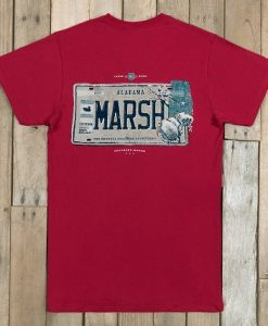Southern Marsh Men's Backroads T-Shirt- Alabama
