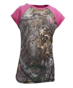 Carhartt Girls' Force Pink Camo Tank